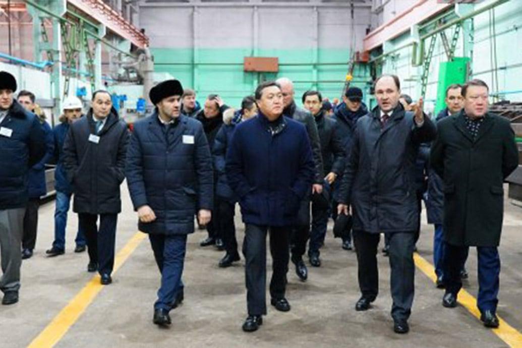 Аскар Мамин посетил Петропавловский Завод Тяжелого Машинострения